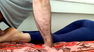 Cum And Lotion On Napping Feet