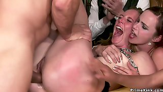 Chained Bitch Sodomized Screwed At Private Party