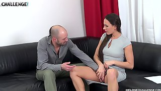 Mea Melone Seduces And Fucks A Guy With Her Friend Watching