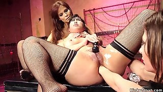 Mom And Asian Are Sodomized Slaves Of Domme