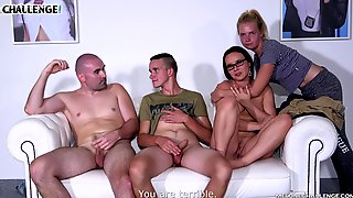 Casting Couch Blowjob From Wendy Moon To Two Studs