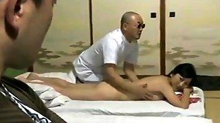 Big Breasted Japanese Wife Enjoys Intense Cuckold Fucking