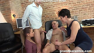 Lucky Couple Fucks Younger Couple