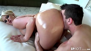 Satisfaction For Big Oiled Rump