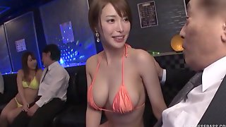 Gorgeous Japanese Babe In A Bikini Kimijima Mio Gives A Titjob