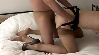 In Pantyhose, I Fuck Her In Her Stockings And High Heels