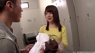 Backroom Blowjob And A Cowgirl Fuck With Japanese Cutie Arimura Nozomi