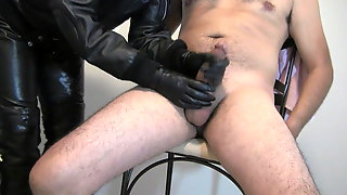 Leather Glove Cum