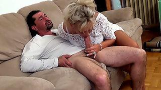 TERRA: Hairy granny strip squirt