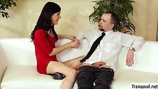 Ts Stefani Special Gets Her Ass Hammered By Dudes Cock