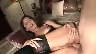Pretty Brunette Milf With Glasses Make Sex Fun Saturday Night ,Enjoy My Friends