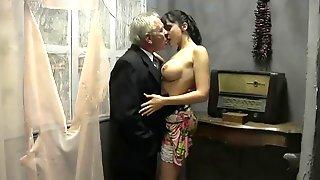 Old Man Busty Girl