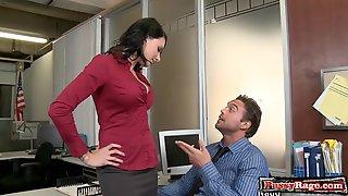 Busty Brunette Crazy Office Sex