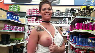 Embarrassed Walmart Public Nudity MILF Part 2