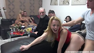 Arousing Swingers At Party