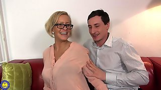 Blonde MILF With Glasses Leni Gets A Hardcore Doggy Style Fuck