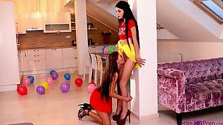 Long Legged Alluring Lesbian Kate Rich Enjoys Some Good Facesitting