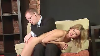 Russian Girl Gets Bare Ass Spanking