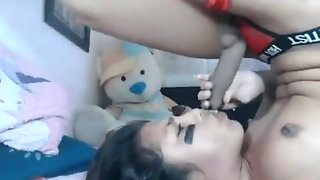 A Trap Selfsucks And Cums In Her Own Mouth