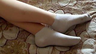Fingering In Stockings SweetLime FootJob Part 2