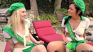 Kylie Foxx And Lily Rader Offer Their Holes To A Horny Fellow