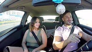 Brunette Mature Whore Natalia Azalea Rides A Big Dick In A Car