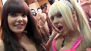 Naughty Chicks Kinky Bukkake Porn Video