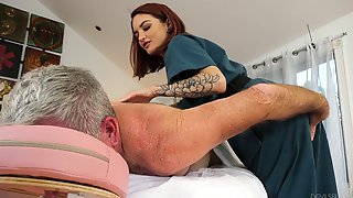Ardent Redhead Lola Fae Is Greedy About Blowing Cock Before Doggy