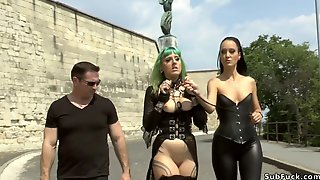 Mistress In Leather Disgraces Euro Whore