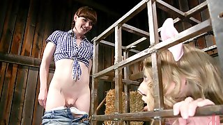 Shemale Natalie Mars Abuses And Fucks Riley Reyes In A Barn