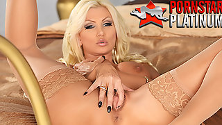 Porn Star Housewife Brittany Andrews Fingers Her Hairless Pussy Cunt