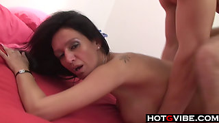 Latina Mom Loves Young Cock