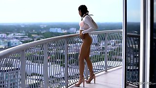Zealous Leggy Cutie Vienna Black Ends Up With BJ And Rides Strong Cock
