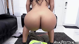 Bubble Butt Hottie Rose Monroe Bouncing Her Booty On Cock