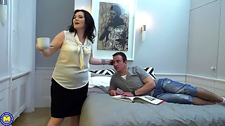 Buxom Mature Brunette MILF Ilsa S. Gets Her Hairy Pussy Hard Pounded
