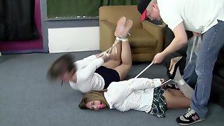 Two School Girl Bondage