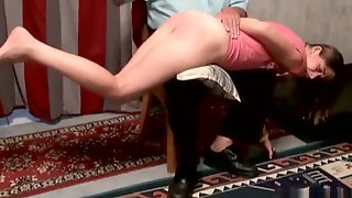 Beautiful Lady Is Spanked By Old Master