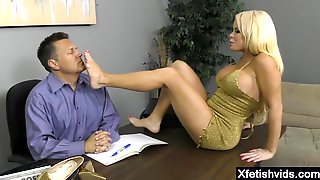 Arousing Porn Star Foot With Ejaculation