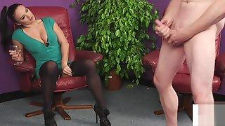 CFNM British Babe Instructs Sub Guy To Jerk