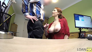 VIP4K. Buxom Ginger Is Fucked Hard At Casting Performed By