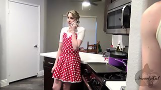 Blonde Housewife In A Dress Gets Her Shaved Pussy Pounded Missionary