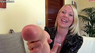 Wicked Blonde Cara Wichs Plays With Rubber Dick In Solo Video