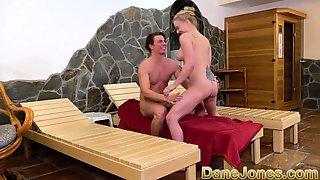 Dane Jones Busty Blonde Minx In Sexy Sauna