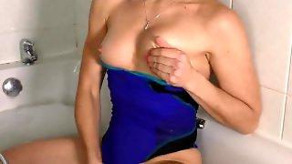 Swimsuit Bath Dildo Orgasm