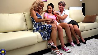Carla S. Gets Seduced By Mature Lesbians Into A Threesome