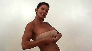 Muscle Lady With Big Boobs