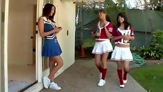 Lesbian Coed Cheerleaders