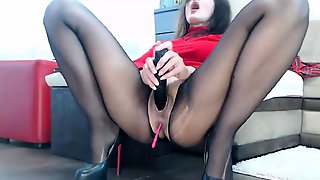 Nylon Pantyhose And Pussy Masturbate