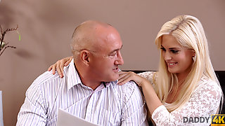 DADDY4K. Massage Then Old And Young Sex Makes GF And Father