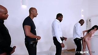 PrivateBlack - Hot Natalie Love Gets 4 Big Black Cocks & Cum